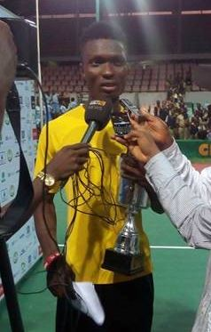 Moses Michael after winning Governor's Cup in Lagos Nov 2014