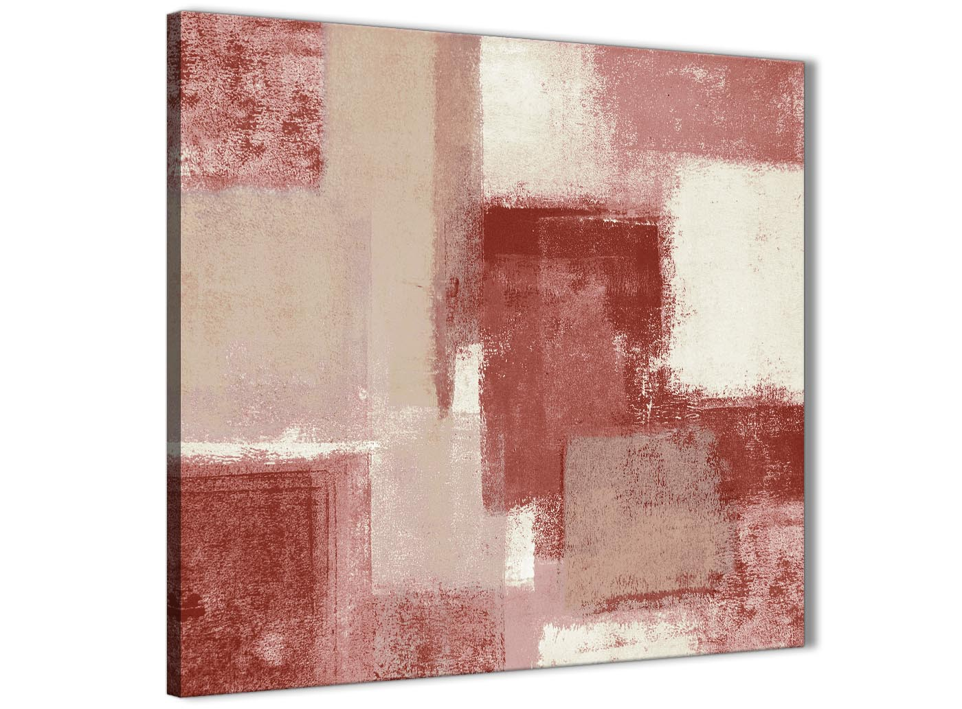 Red And Cream Hallway Canvas Pictures Decor