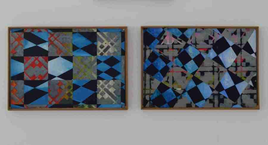 """Bild 7 und 8, aus der Serie """"Lichtbilder"""",2 Bilder """"dark sky"""", aus der Serie """"Lichtbilder"""", Friederike"""