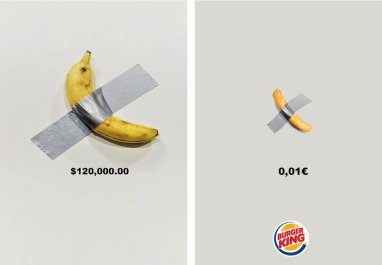 burger king recreates banana art