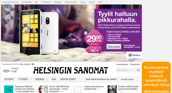 Cavat Digital Redesign - Helsingin Sanomat