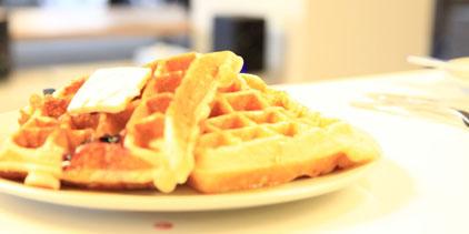 Waffle Wednesday at Portland marketing agency Pollinate