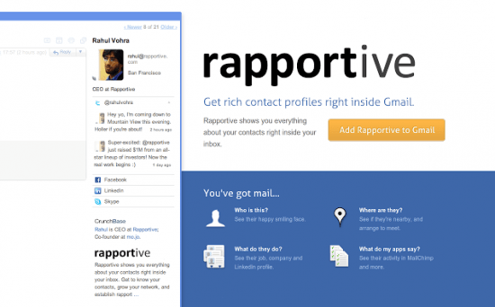 rapportive browser extensions