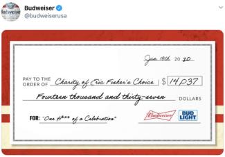 Budweiser; real-time marketing