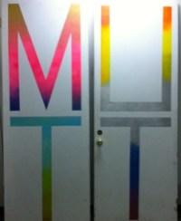Doors at Portland advertising agency Mutt.