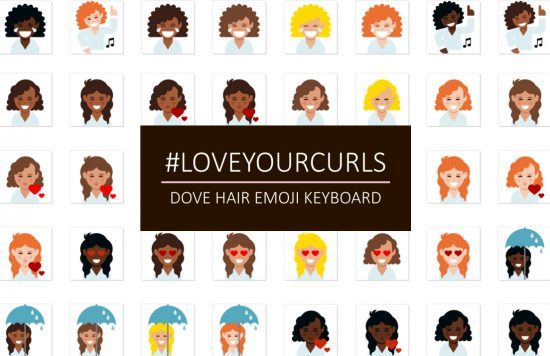 dove love your curls hair emoji keyboard