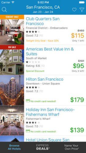 Priceline Flight Finder app by Dom & Tom