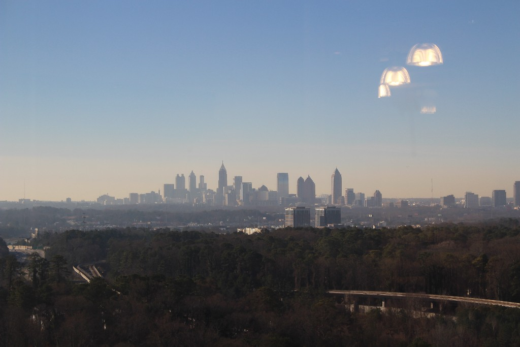 Atlanta skyline view
