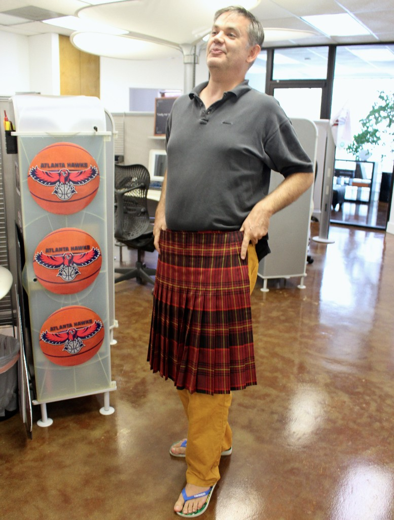 CEO Ted Wright with his kilt