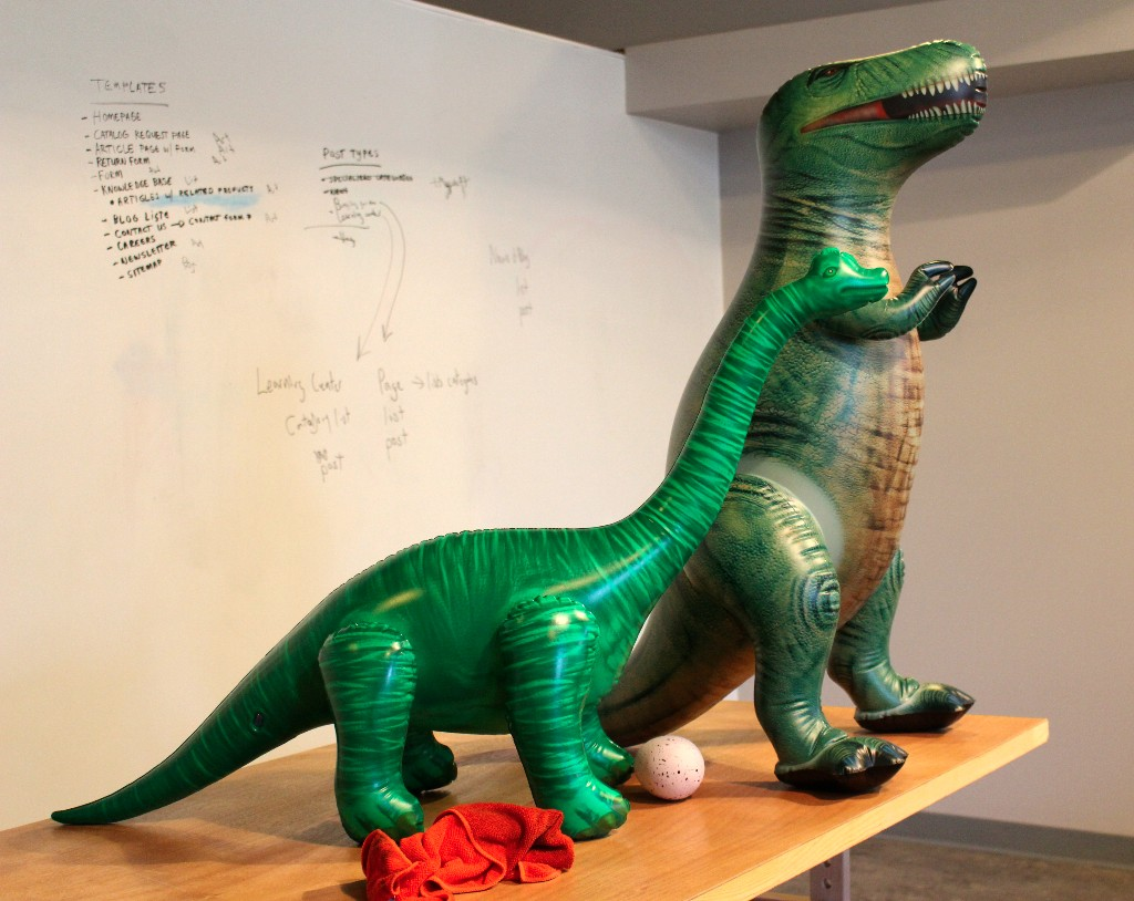 Whiteboarding Dinosaurs