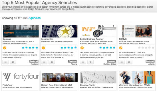 Top 5 Most Popular Agency Searches