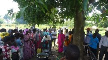 community learning the soap making process