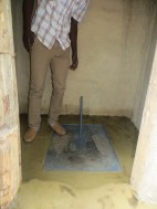 An improved pit latrine of one of the borehole users