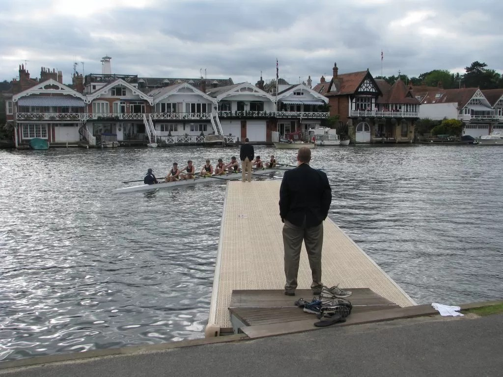 One Of My Proudest Coaching Moments - Launching the Tulsa Rowing Club Thames Cup Eight - July 2013.