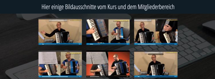 Akkordeon lernen online Kurs