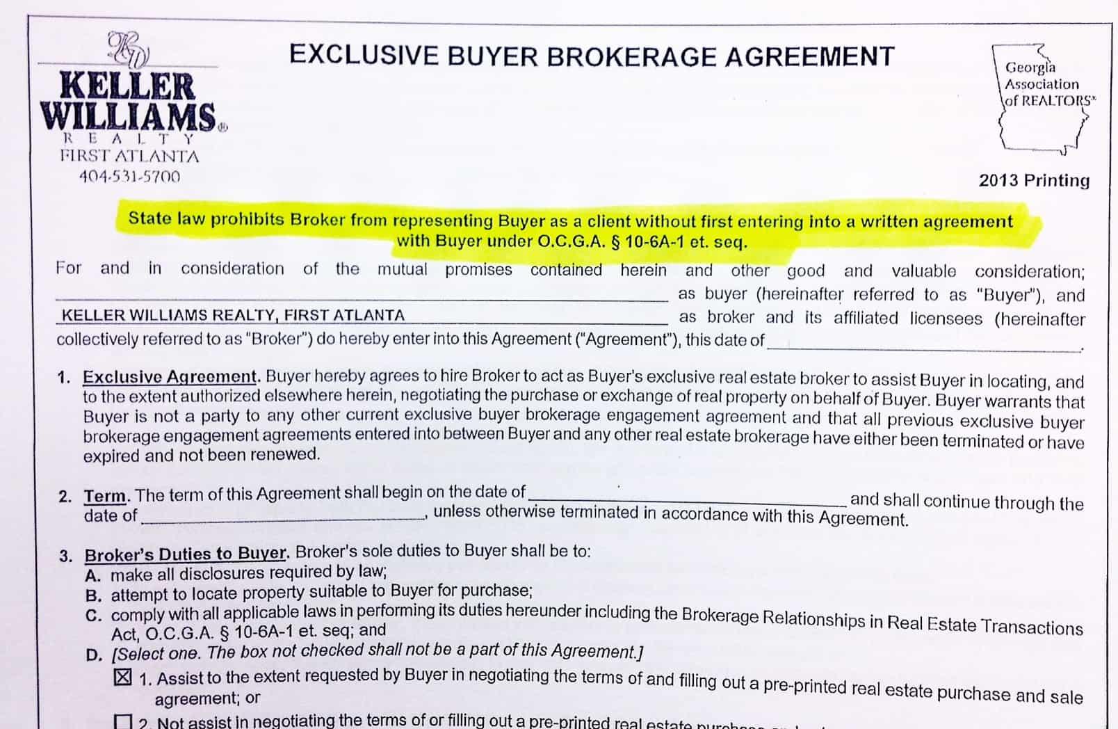 Agency Real Estate Brokerage