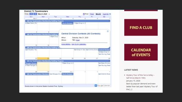 d73 calendar online
