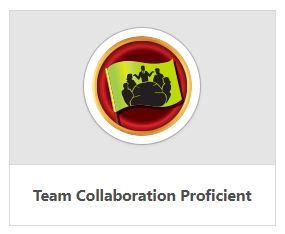 team collaboration badge