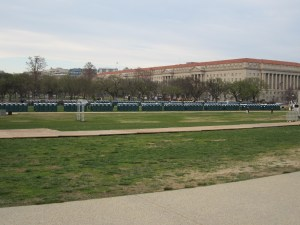 Race wall of porta potties!