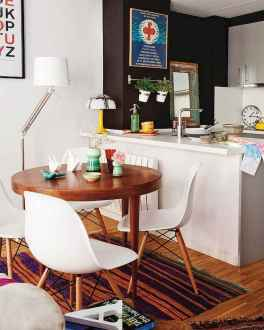 130 Small and Clean First Apartment Dining Room Ideas (13)