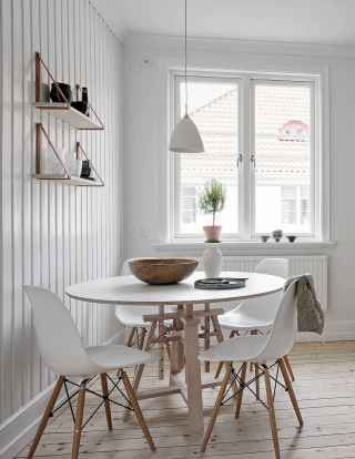 130 Small and Clean First Apartment Dining Room Ideas (81)