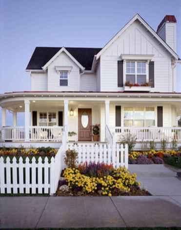 130 Stunning Farmhouse Exterior Design Ideas (130)