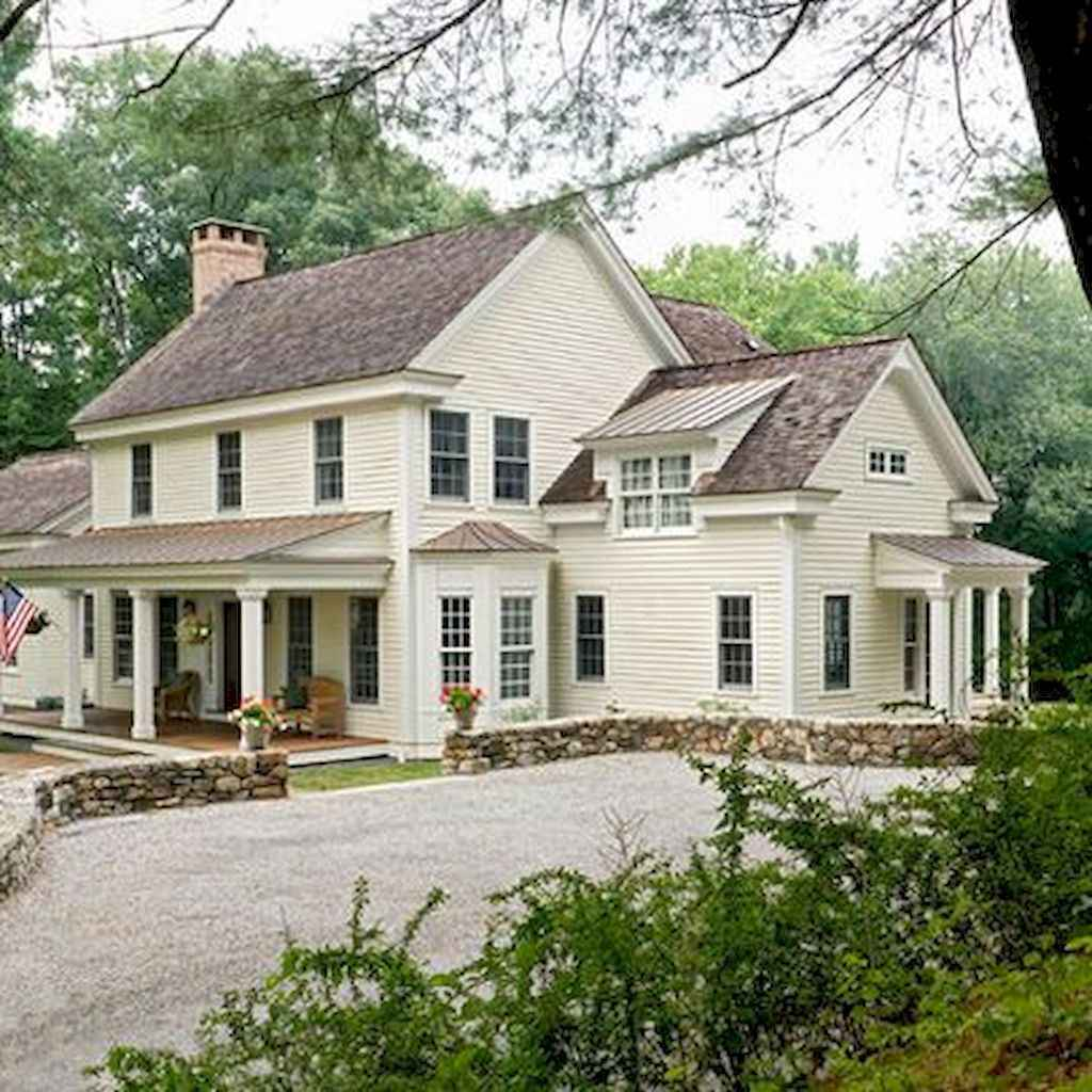 130 Stunning Farmhouse Exterior Design Ideas (75)