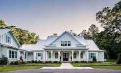 130 Stunning Farmhouse Exterior Design Ideas (83)