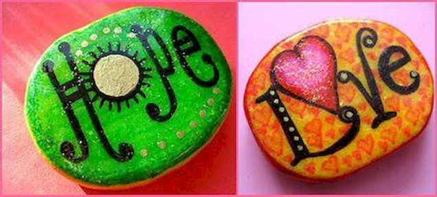 50 DIY Painted Rock Ideas for Your Home Decoration (51)