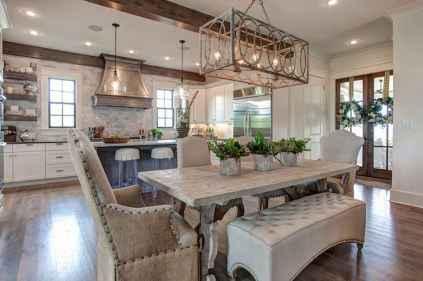 120 Modern Rustic Farmhouse Kitchen Decor Ideas (8)