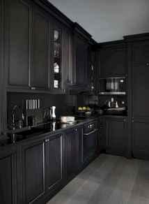 60 Black Kitchen Cabinets Design Ideas (11)