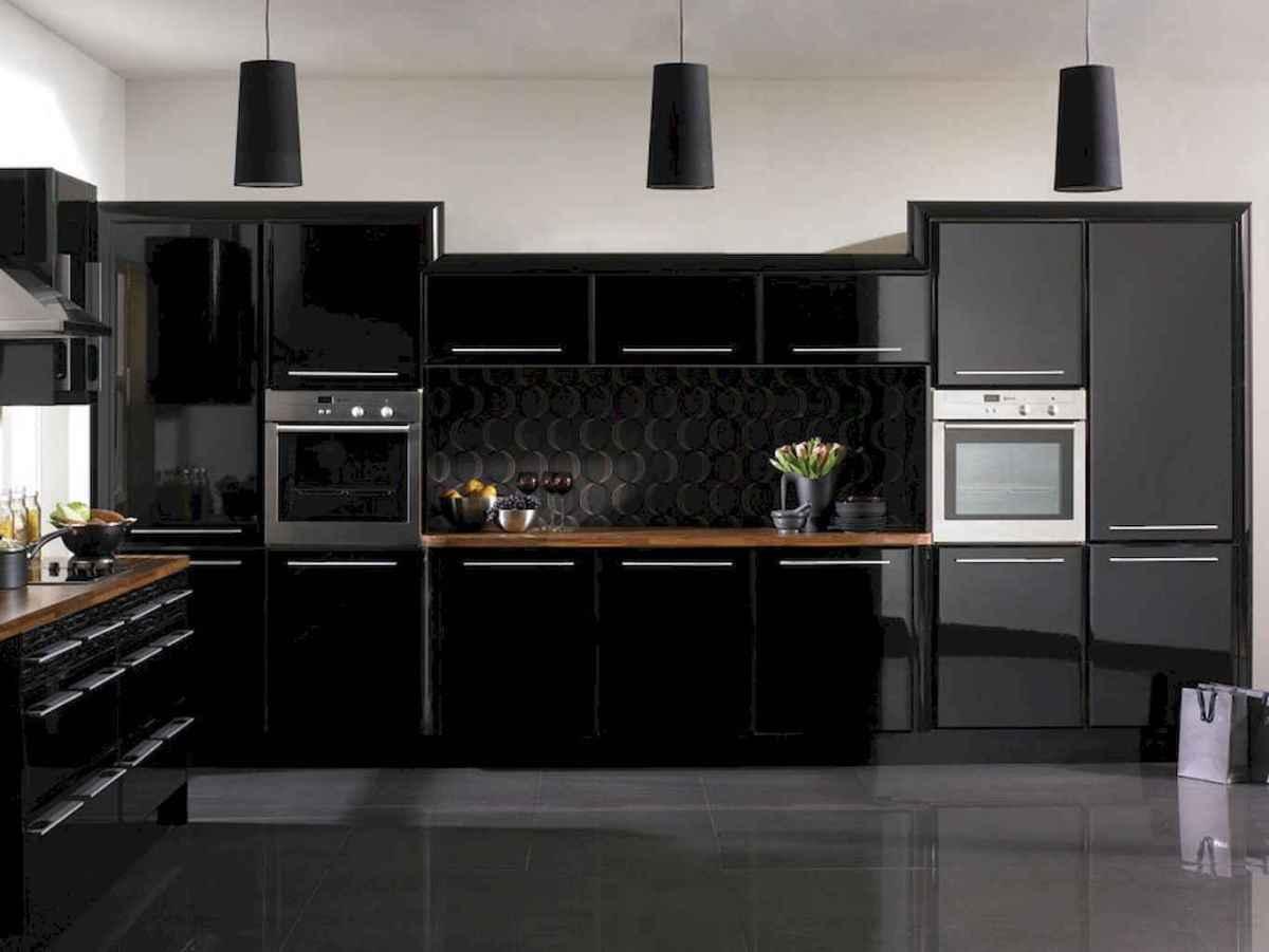 60 Black Kitchen Cabinets Design Ideas (16)