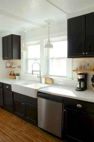 60 Black Kitchen Cabinets Design Ideas (40)