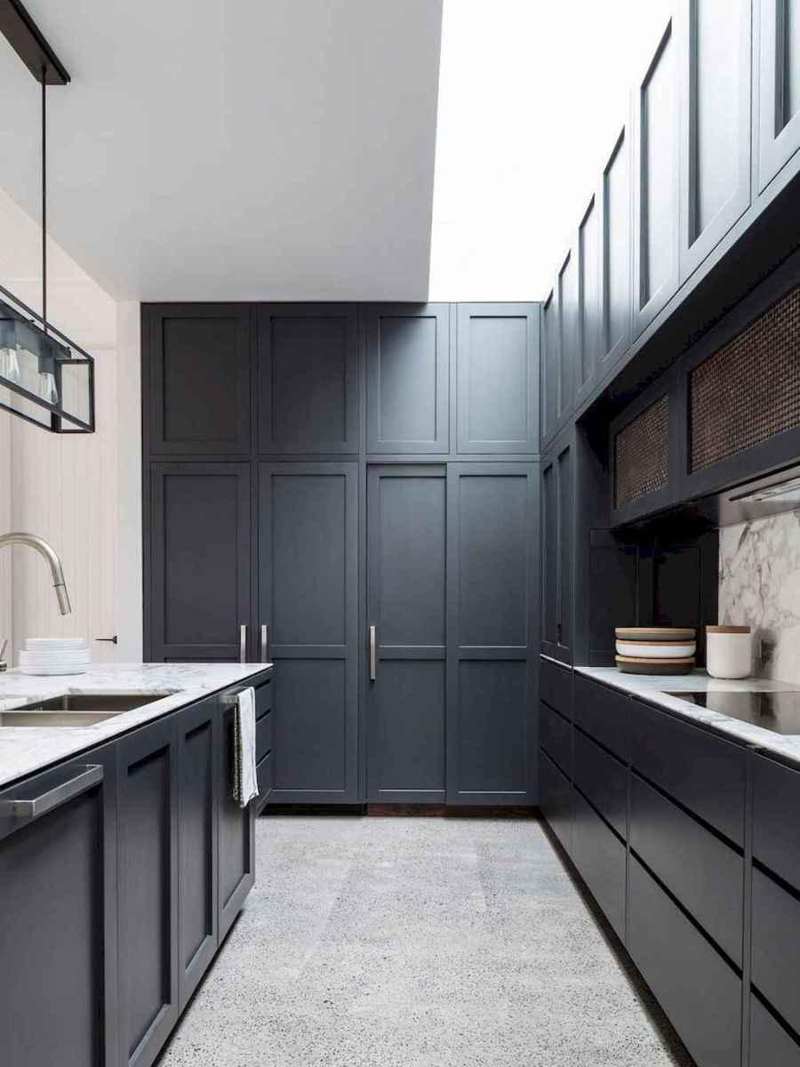 60 Black Kitchen Cabinets Design Ideas (45)