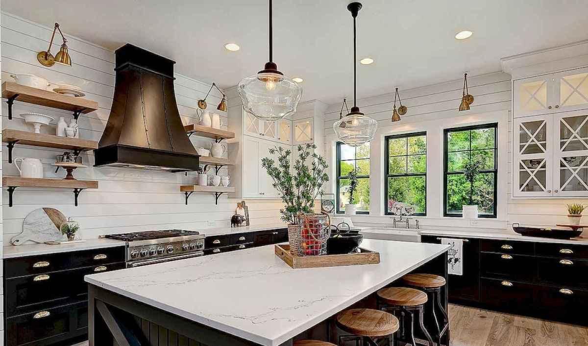 60 Black Kitchen Cabinets Design Ideas (55)