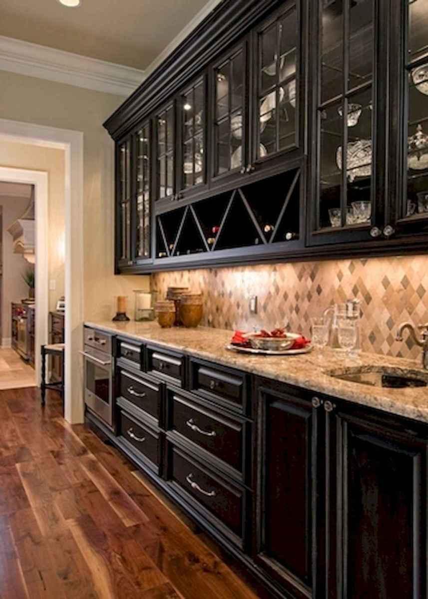 60 Black Kitchen Cabinets Design Ideas (58)