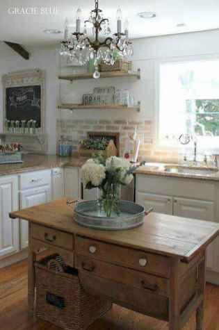 70 Beautiful Modern Farmhouse Kitchen Decor Ideas (40)