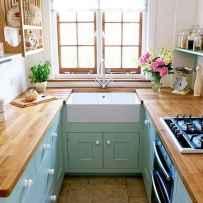 70 Brilliant Small Apartment Kitchen Decor Ideas (14)