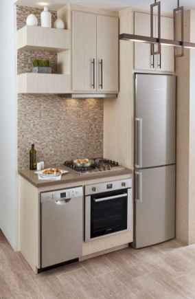 70 Brilliant Small Apartment Kitchen Decor Ideas (16)