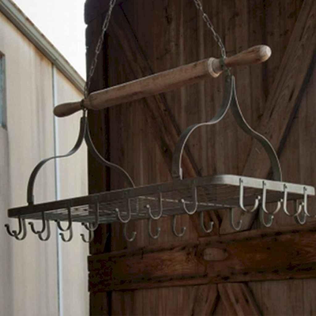 80 Incredible Hanging Rack Kitchen Decor Ideas (1)