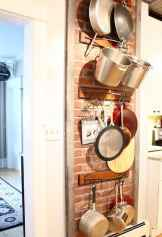 80 Incredible Hanging Rack Kitchen Decor Ideas (19)