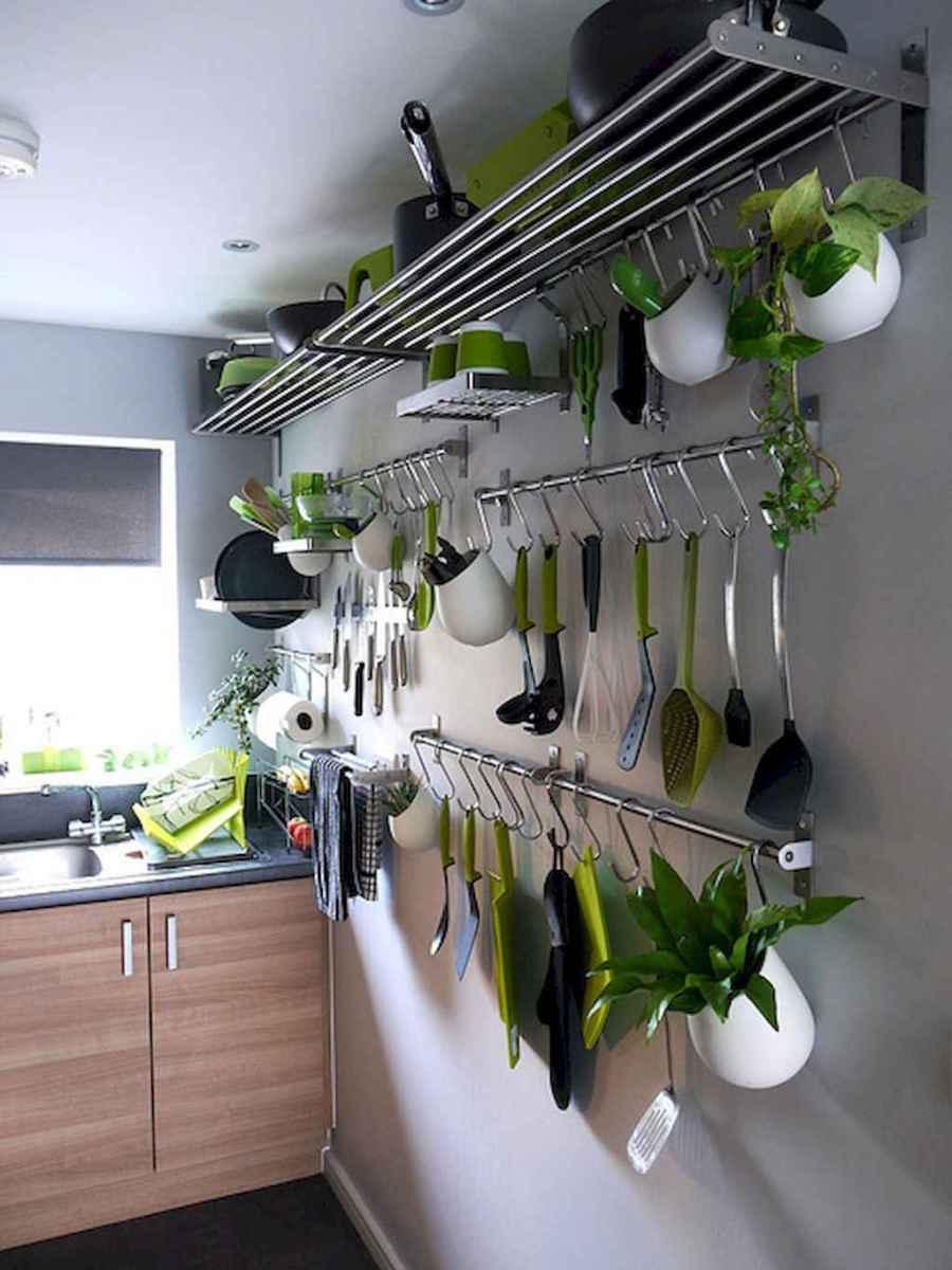 80 Incredible Hanging Rack Kitchen Decor Ideas (2)