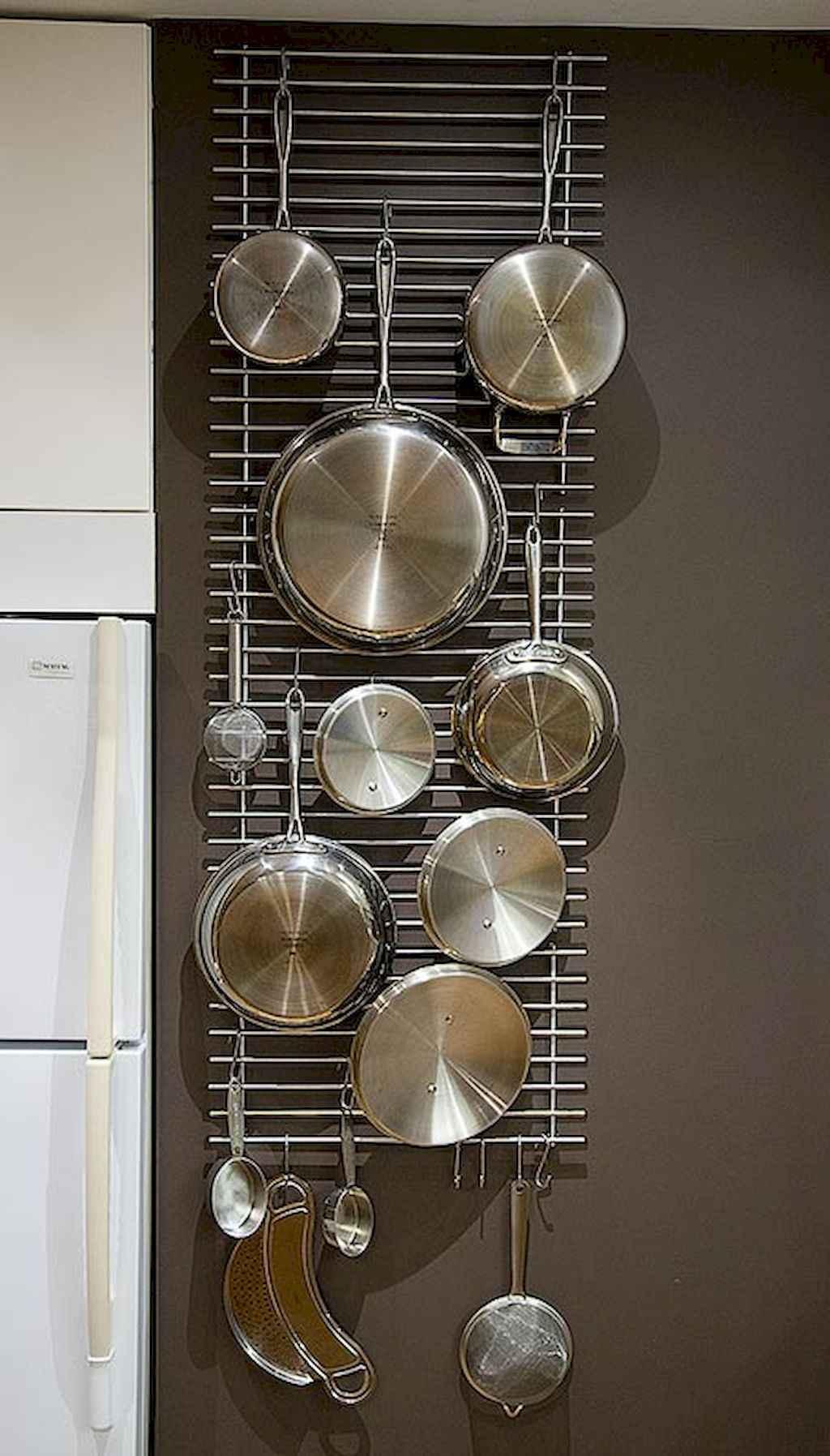80 Incredible Hanging Rack Kitchen Decor Ideas 20
