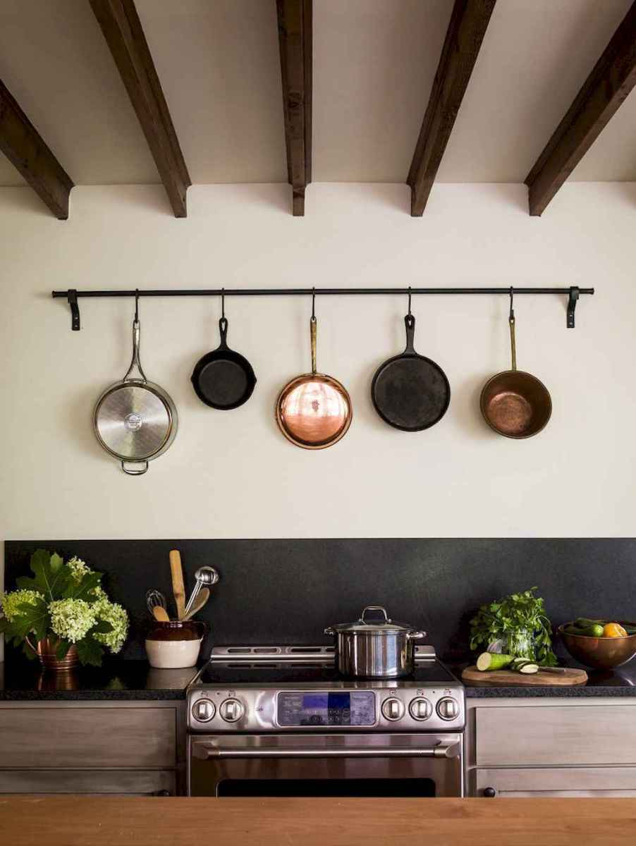 80 Incredible Hanging Rack Kitchen Decor Ideas (4)