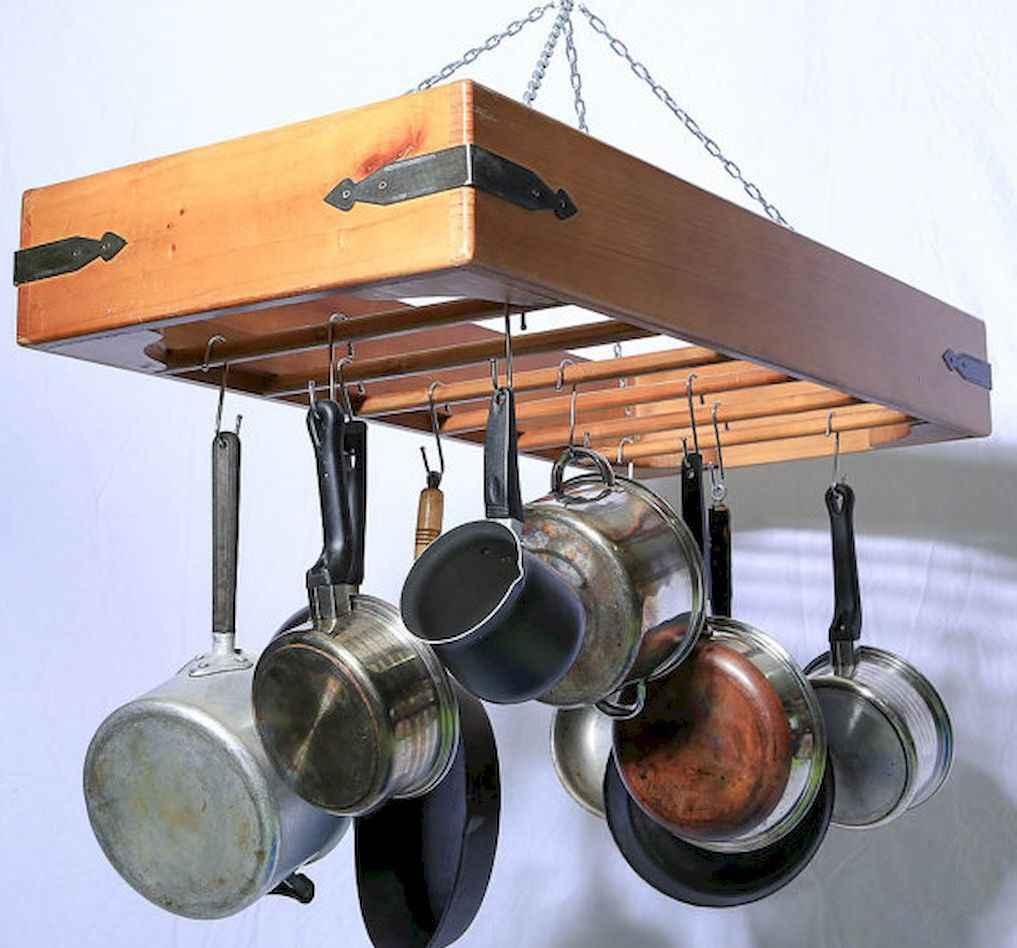 80 Incredible Hanging Rack Kitchen Decor Ideas (54)