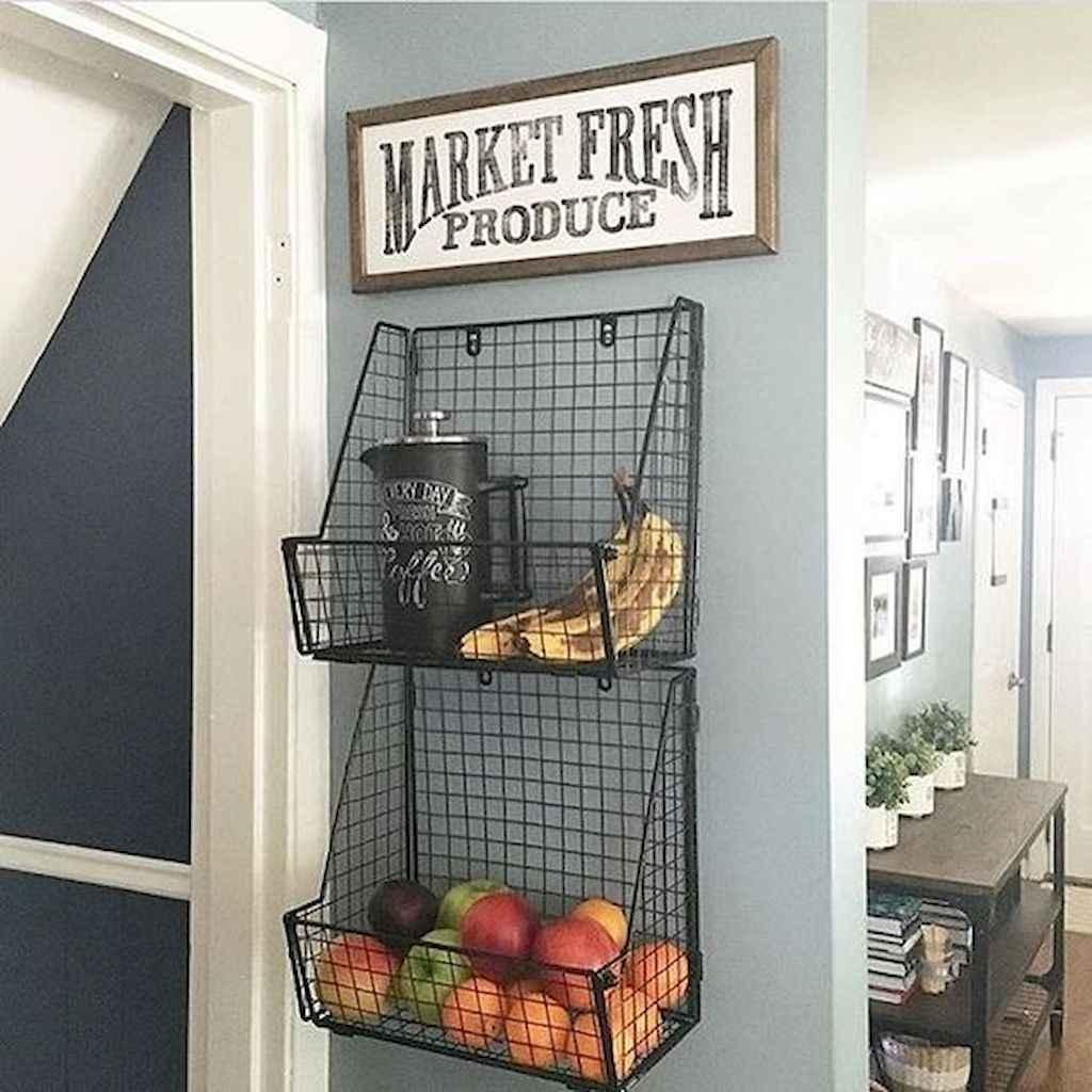 80 Incredible Hanging Rack Kitchen Decor Ideas (64)