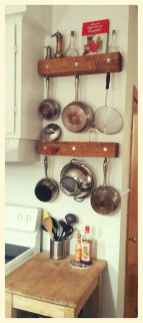 80 Incredible Hanging Rack Kitchen Decor Ideas (65)