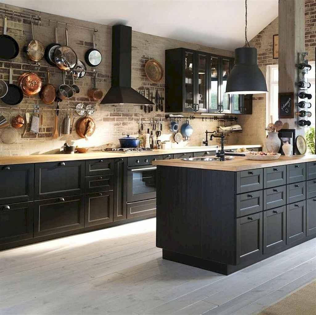 80 Incredible Hanging Rack Kitchen Decor Ideas (7)