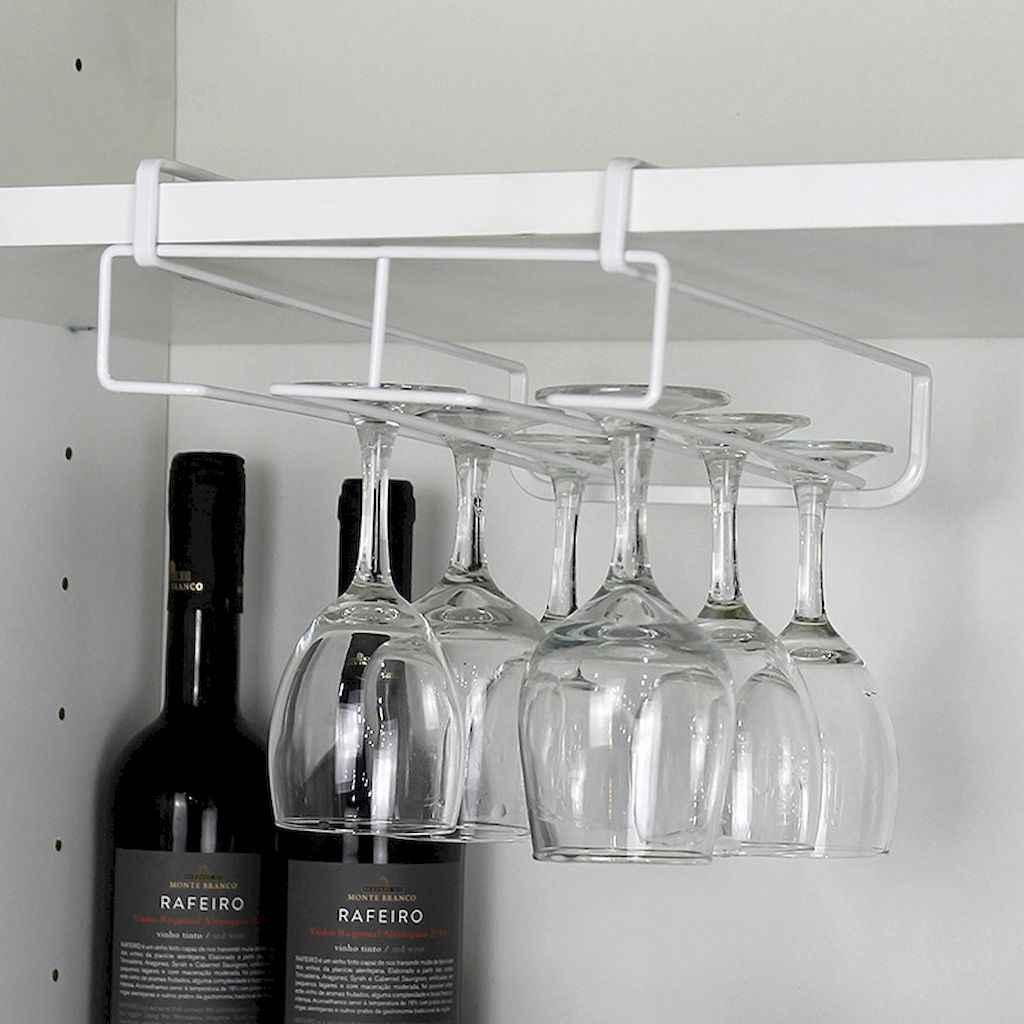 80 Incredible Hanging Rack Kitchen Decor Ideas (72)