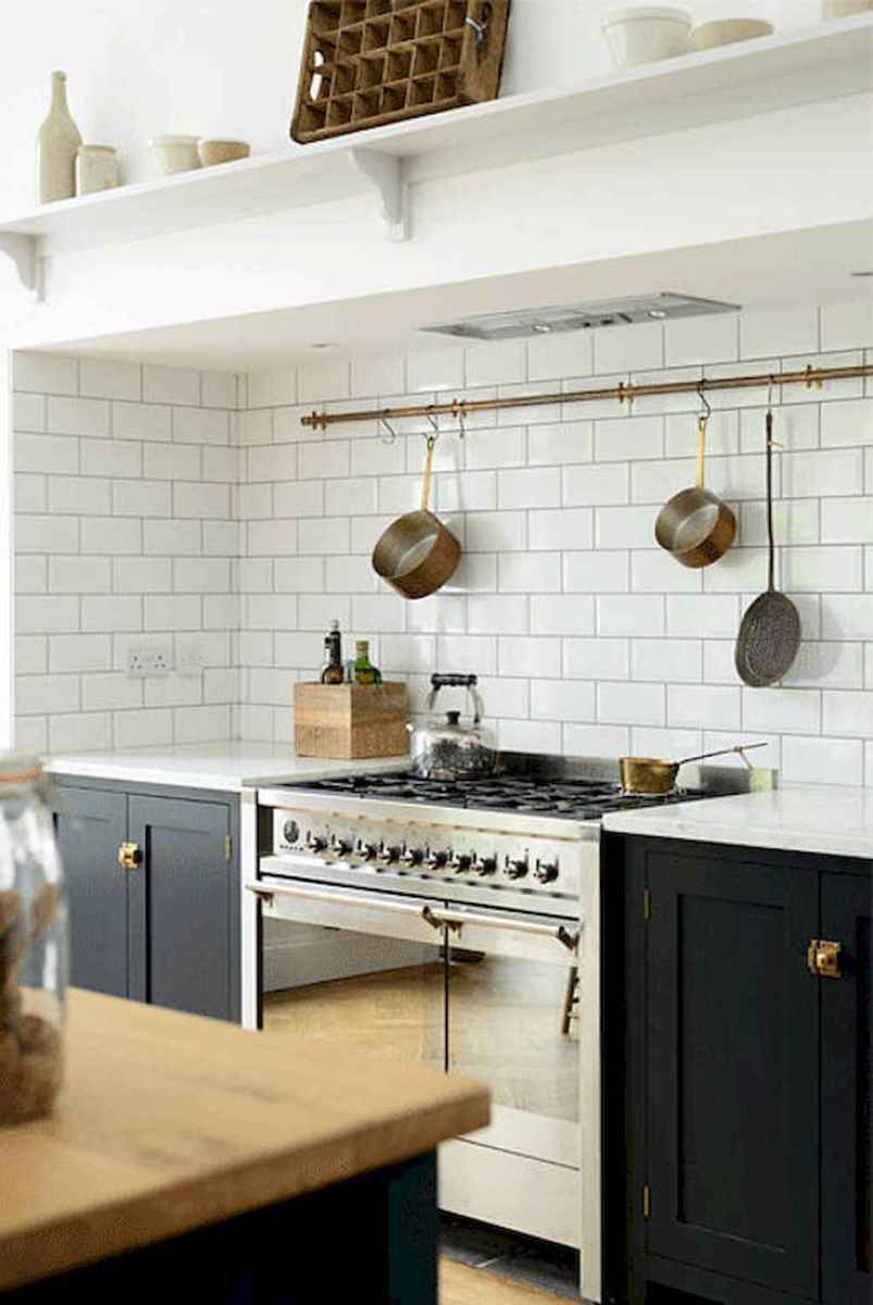 80 Incredible Hanging Rack Kitchen Decor Ideas (73)
